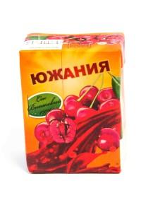 "Сок ""Южания"" вишня, ГОСТ, 200 миллилитров, тетрапак, Россия"