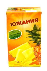"Сок ""Южания"" ананас, ГОСТ, 1 литр, тетрапак, Россия"