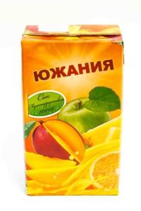 "Сок ""Южания"" мультифрукт, ГОСТ, 1 литр, тетрапак, Россия"