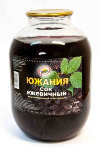 Сок ежевичный, 3 литра, Россия Южания